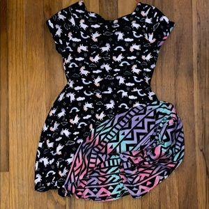 Girls double sided dress